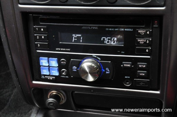 Alpine 200W audion - iphone compatible too.