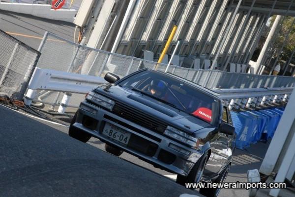 Action shot. At Mobara circuit, Chiba, Japan.
