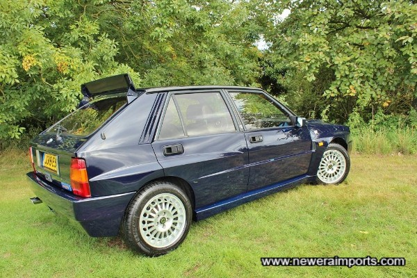 Paintwork's just lovely on this Integrale Evolution.