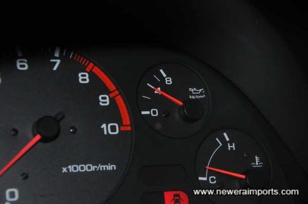 Oil pressure at idle when cold is healthy.