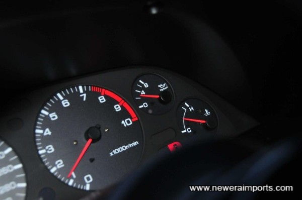 Oil pressure is 3 kg/mm when cold. A sign of a healthy engine with plenty of life to give.