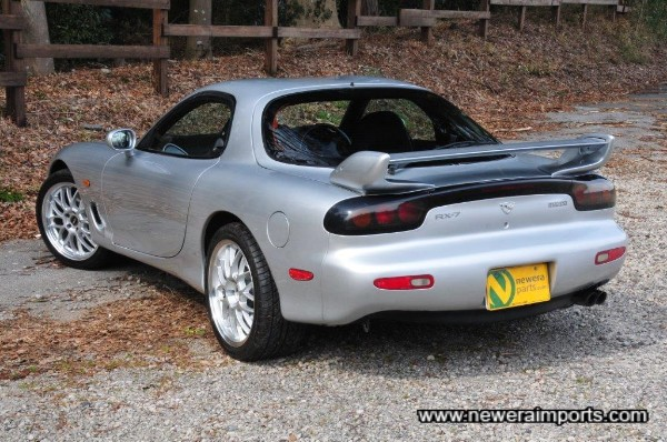 Note the 1999 + rear badges either side of the original ''Efini'' badges.