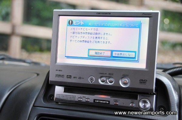 DVD Navi - will play DVD's and other media (Supplied untested & free of charge).