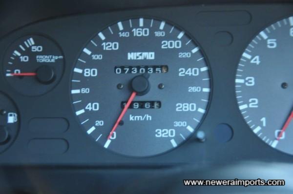 Note: Odometer shows mileage in km.