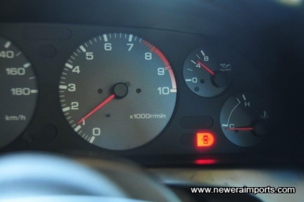 Oil pressure high when cold (4.5 bar) - a sign of a healthy engine.
