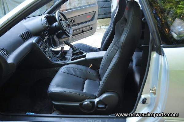 A completely modernised look with leather seats (front).