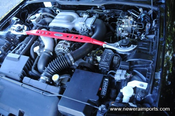 Engine bay is clean & tidy in keeping with original low mileage.