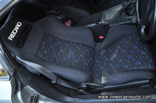 Original option Recaro SR-II reclinable seats.
