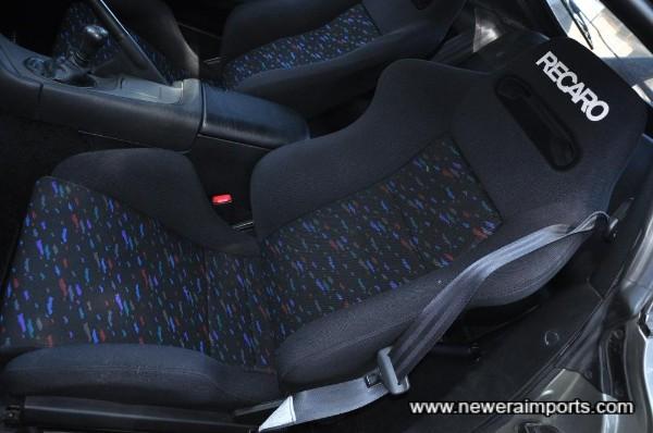 Matching passenger Recaro seat.