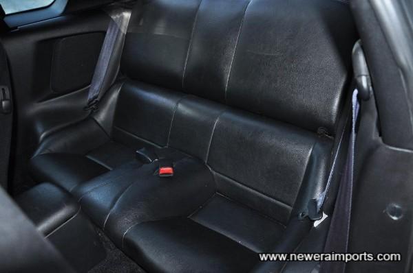 Back seat is similarly unworn.