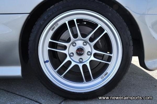 Enkei RP-F1 wheels are brand new.