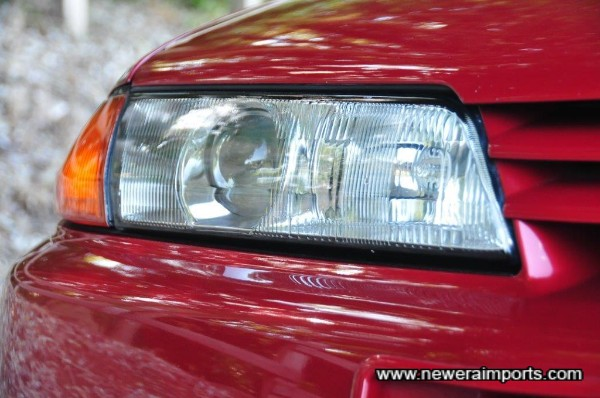 Headlights are still in amazing condition. This car has been well protected from sun when not in use.