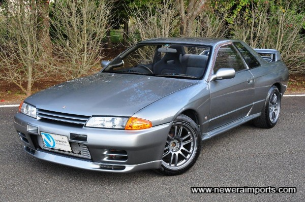 This Silver Skyline GT-R has received a col;our change to WV2 Dark Silver Metallic.