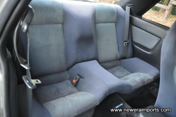 Back seat is unworn.