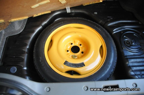 Spare wheel unused since new.