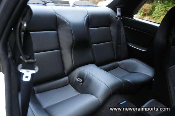 Rear seats were also re-manufactured by Robson leather.