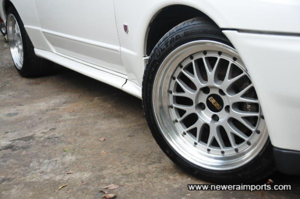 BBS LM's have new sports tyres.