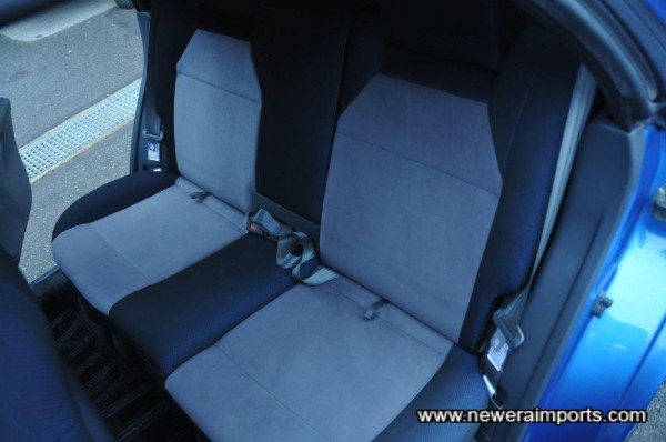 Rear seats are unused.