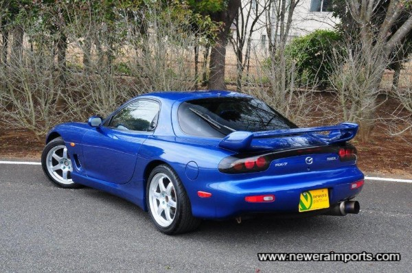 Rear spoiler is factory original of course. The nicest original RX-7 spoiler design.