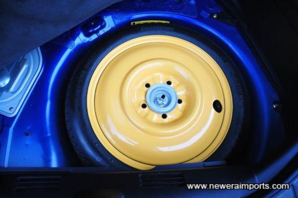 Original spare wheel is unused.