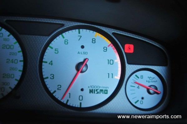 Oil pressure high when cold (5.5 bar) - a sign of a healthy engine.