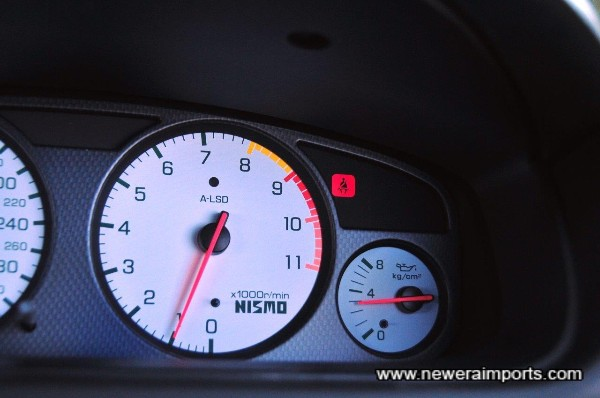 Oil pressure at idle is 3 bar when warm. A sign of a healthy engine.