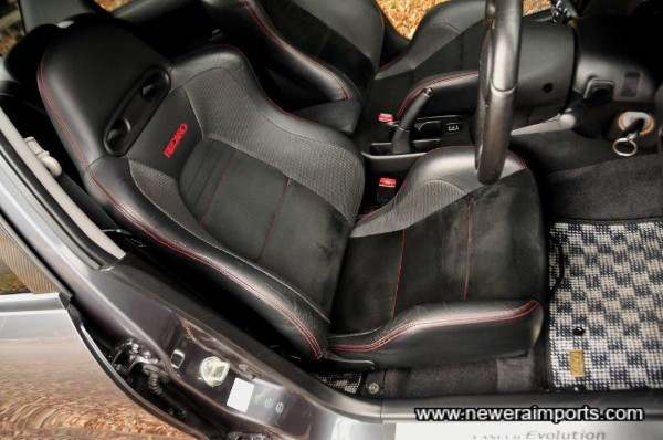 Driver's seat is in excellent condition, in keeping with low genuine mileage.