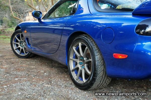 Wedsport SA-70 wheels have near new Advan Neuva High Performance Tyres.