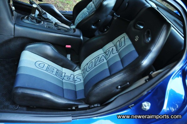 Mazdaspeed original dealer option sports seats are very rare & desirable (Recaro's made for Mazdaspeed).