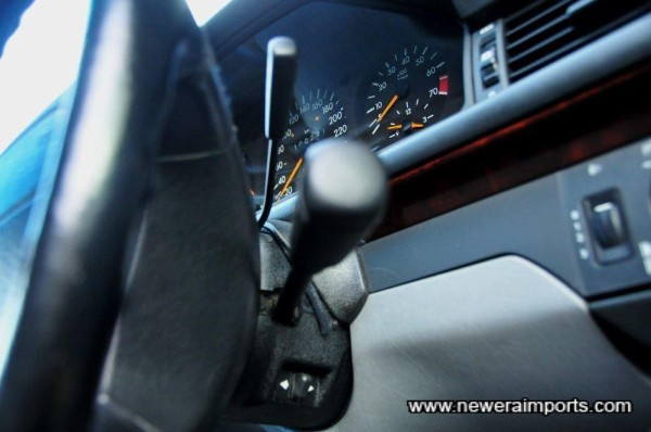 Electrically adjustable steering column & cruise control.