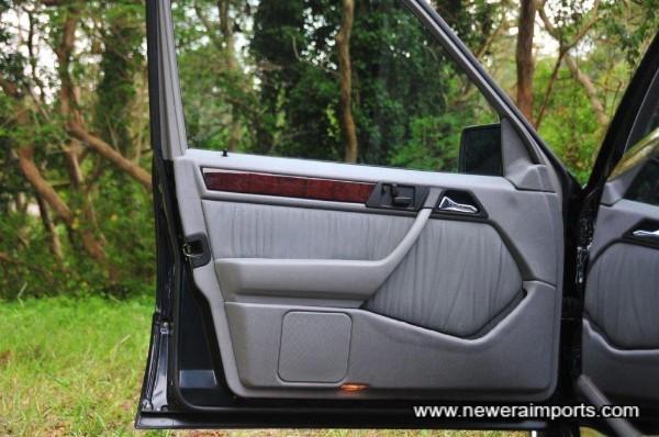 Front passenger door panel.