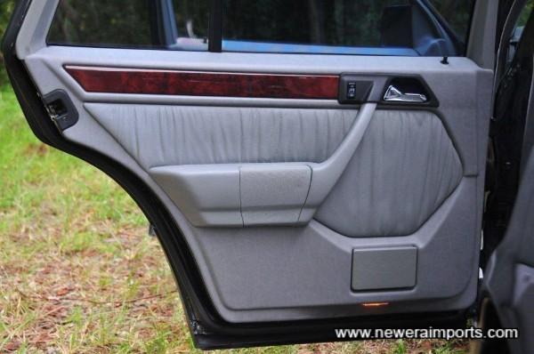 Rear n/s door panel.