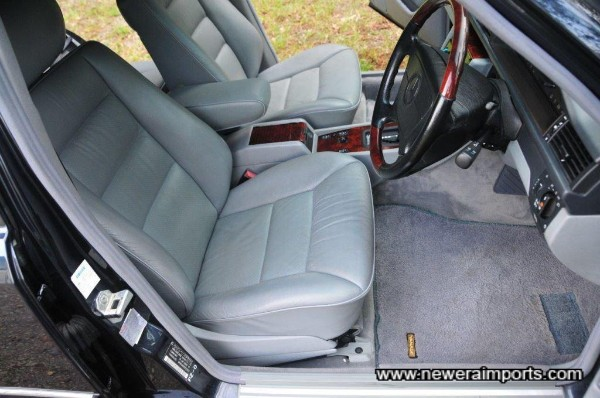 Seats are unworn and leather is soft & supple, in keeping with low original mileage & indoor storage throughout it's life.